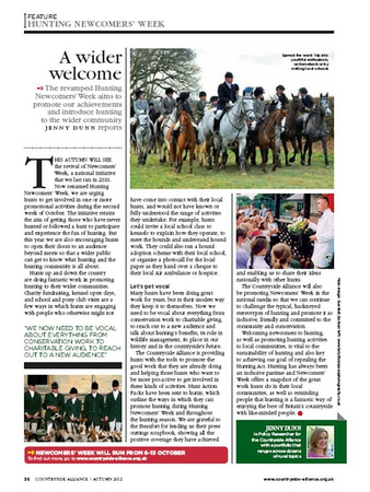 Countryside Alliance Magazine Autumn 2013