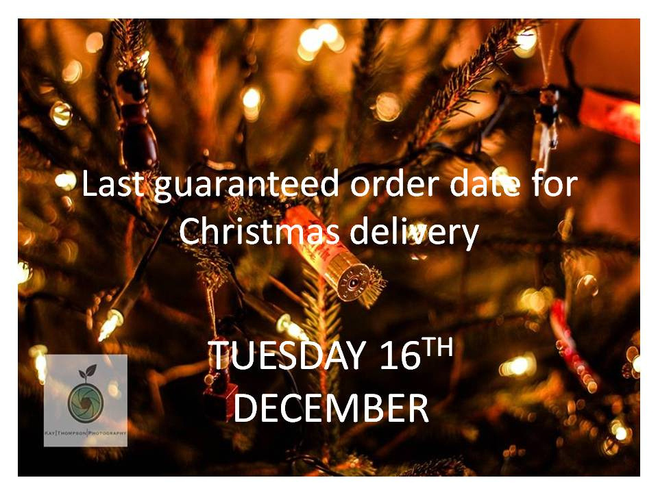 Last guaranteed order date for Christmas delivery